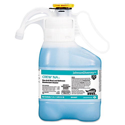 Crew Non-Acid Bowl and Bathroom Disinfectant Cleaner, Floral, 47.3 oz, 2/Carton