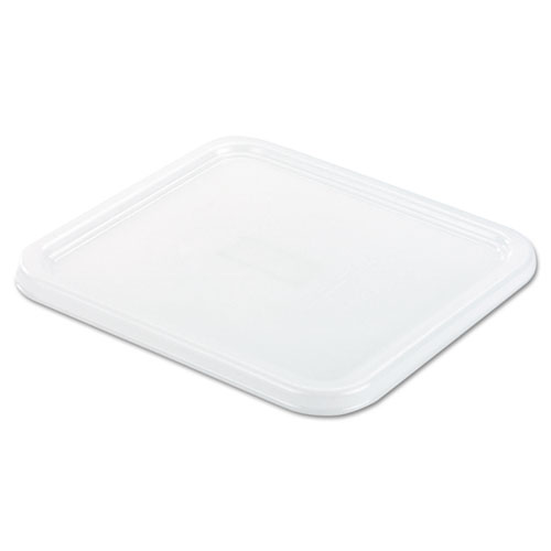 SpaceSaver Square Container Lids, 8 4/5w x 8 3/4d, White | by Plexsupply