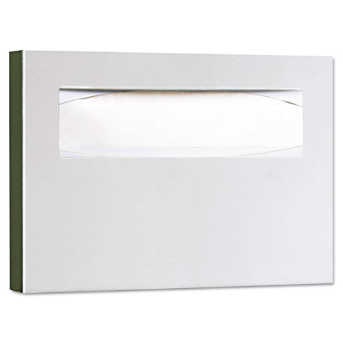 Stainless Steel Toilet Seat Cover Dispenser, 15 3/4 x 2 x 11, Satin Finish | by Plexsupply