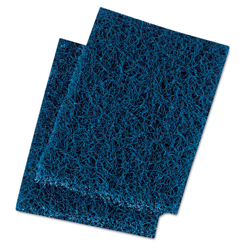 Extra Heavy-Duty Scour Pad, 3 1/2 x 5, Blue/Gray, 20/Carton