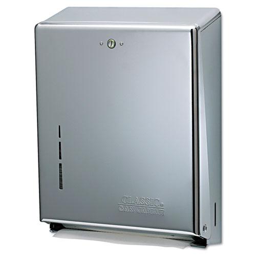 C-Fold/Multifold Towel Dispenser, Chrome,  11 3/8 x 4 x 14 3/4 | by Plexsupply