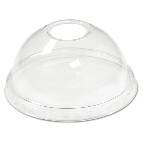 Cold Cup Dome Lids, 5-20oz Cups, Clear, 75/Sleeve, 12 Sleeves/Carton YPDL20C