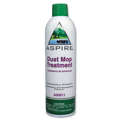 Aspire Dust Mop Treatment, Lemon Scent, 20 oz. Aerosol Can, 12/Carton