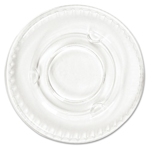 Portion Cup Lids, .5-1oz Cups, Clear, 100/Sleeve, 25 Sleeves/Carton YLS1FR