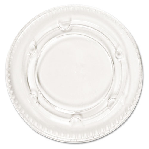 Crystal-Clear Portion Cup Lids, Fits 1.5-2.5oz Cups, 2400/Carton | by Plexsupply