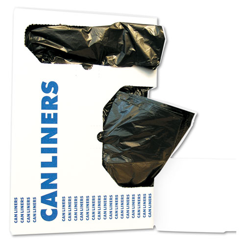 Low-Density Waste Can Liners, 10 gal, 0.35 mil, 24 x 23, Black, 500/Carton