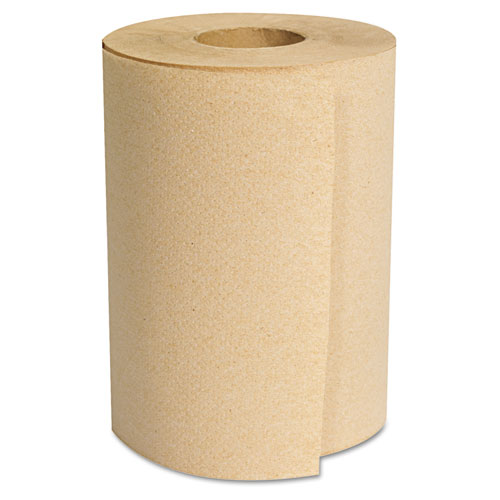 "Hardwound Roll Towels, Natural, 8"" x 350ft, 12 Rolls/Carton"