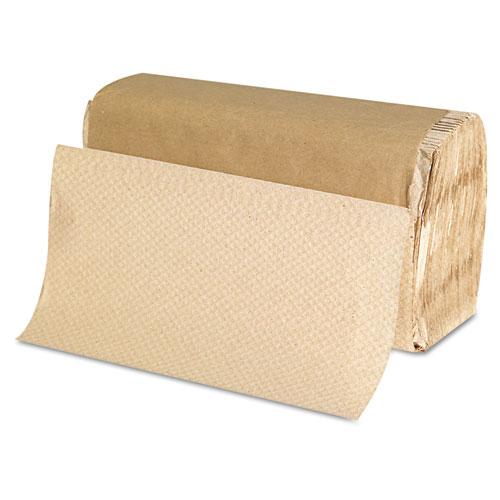 Singlefold Paper Towels, 9 x 9 9/20, Natural, 250/Pack, 16 Packs/Carton