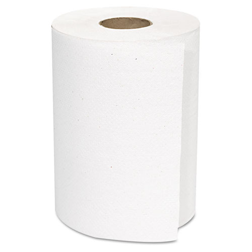 Hardwound Roll Towels, White, 8 x 350 ft, 12 Rolls/Carton