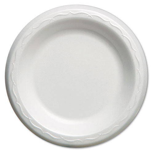 Elite Laminated Foam Plates, 6 Inches, White, Round, 125/Pack, 8 Pack/Carton | by Plexsupply