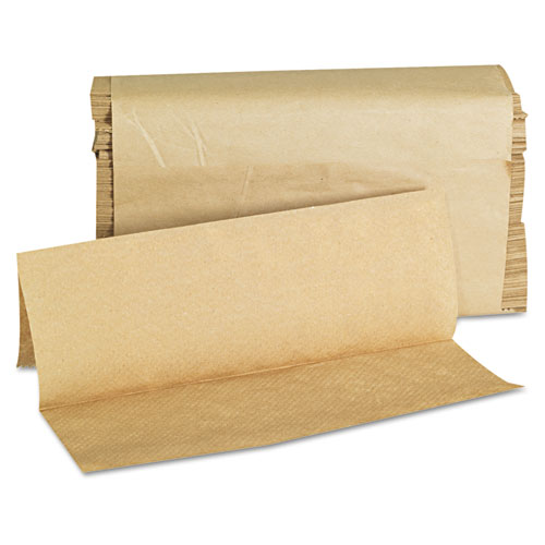 Folded Paper Towels, Multifold, 9 x 9 9/20, Natural, 250 Towels/PK, 16 Packs/CT