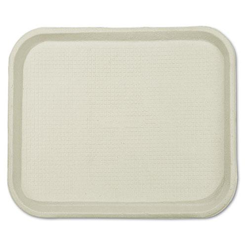 Savaday Molded Fiber Food Trays, 1-Compartment, 9 x 12 x 1, White, 250/Carton