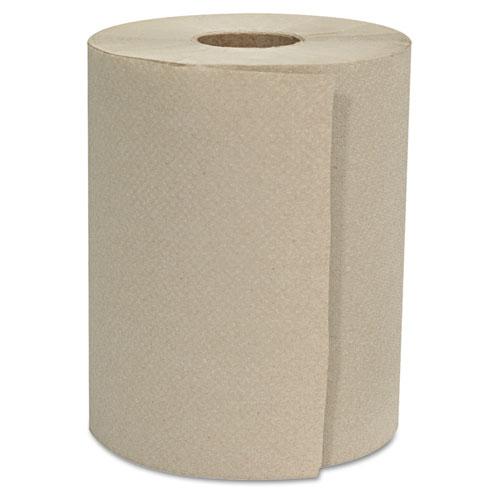 "GEN Hardwound Roll Towels, 1-Ply, Natural, 8"" x 800 ft, 6 Rolls/Carton"