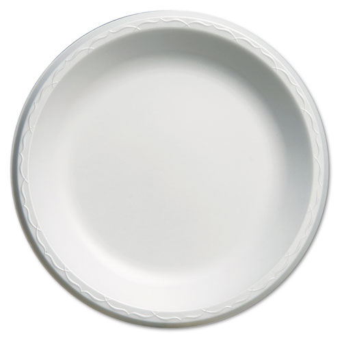 "Elite Laminated Foam Plates, 10 1/4"" Dia, White, Round, 125/Pack, 4 Pack/Carton 