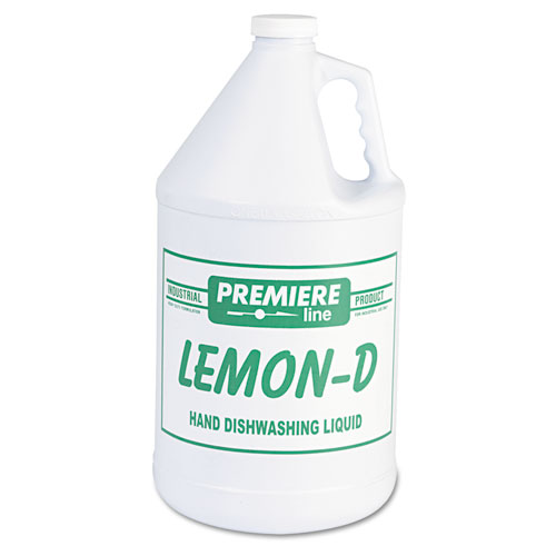 Kess Lemon-D Dishwashing Liquid, Lemon, 1gal, Bottle, 4/Carton
