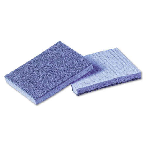 Soft Scour Scrub Sponge, 3 1/2 x 5 in, Blue, 40/Carton 9489