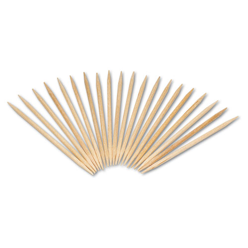 Round Wood Toothpicks, 2 1/2, Natural, 24 Inner Boxes of 800, 5 Boxes/Carton, 96,000 Toothpicks/Carton