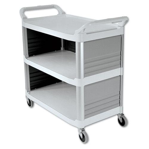 Xtra Utility Cart, 300-lb Capacity, Three-Shelf, 20w x 40.63d x 37.8h, Off-White