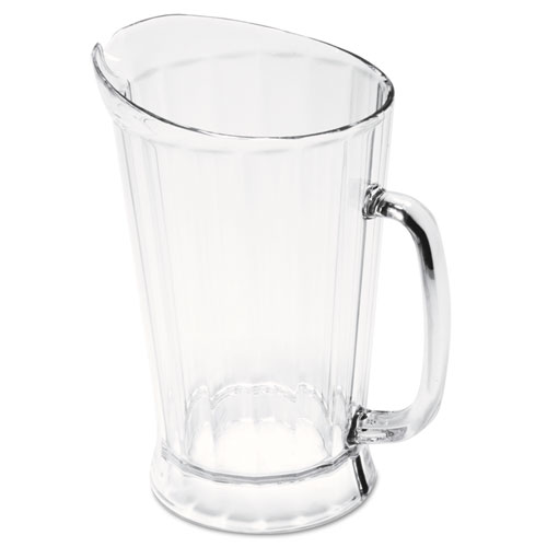 Rubbermaid® Commercial Bouncer II Plastic Pitcher, 60 oz, Clear