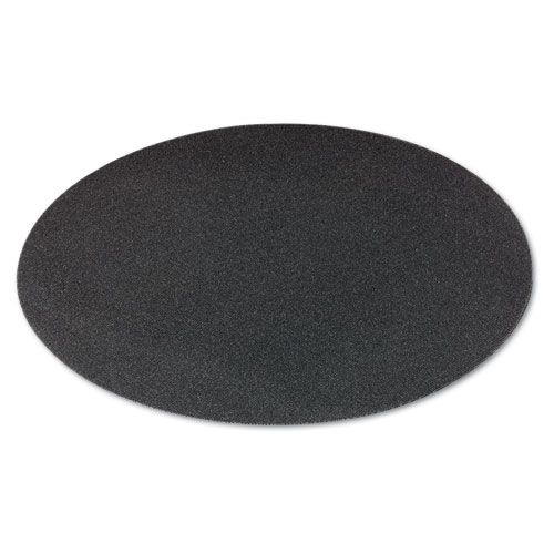 Sanding Screens, 20 Diameter, 80 Grit, Black, 10/Carton