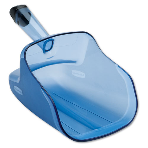 Hand-Guard Scoop, 74oz, Transparent Blue