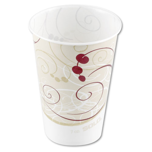 Waxed Paper Cold Cups, 7 oz, Symphony Design