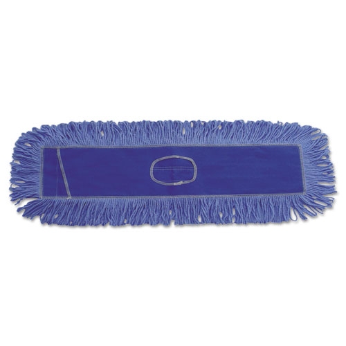 Dust Mop Head, Cotton/Synthetic Blend, 36 x 5, Looped-End, Blue
