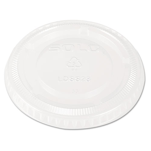 Snaptight Portion Cup Lids, 2.5-3.5 Cups, Clear, 100/Sleeve, 25 Sleeves/Carton LDSS23