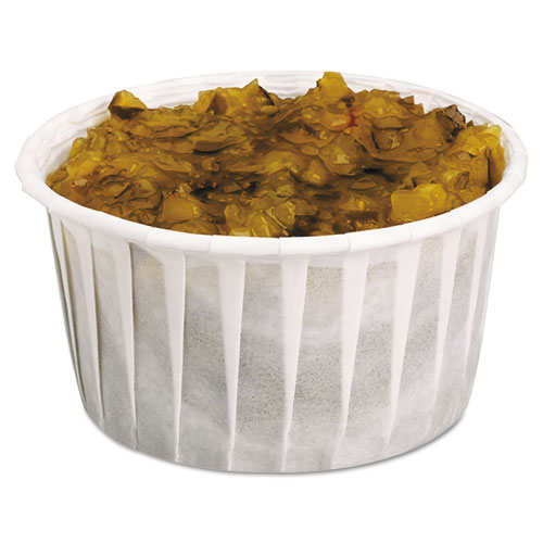 Treated Soufflé Paper Portion Cup, 5 1/2 oz., White, 250/Bag, 20 Bags/Carton 550