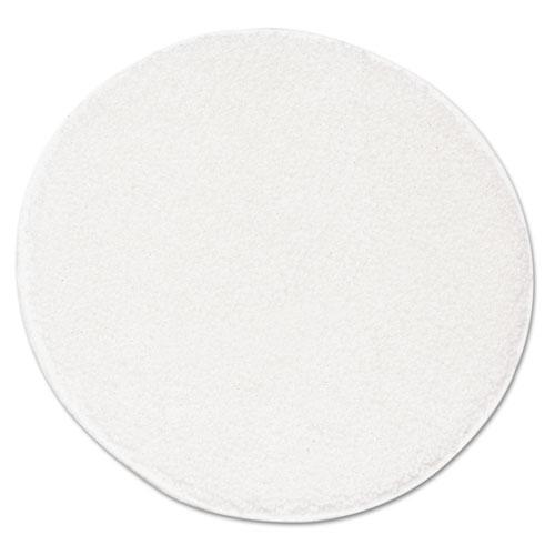 "Rotary Yarn Carpet Bonnets, 21"" Diameter, White, 5/Carton"