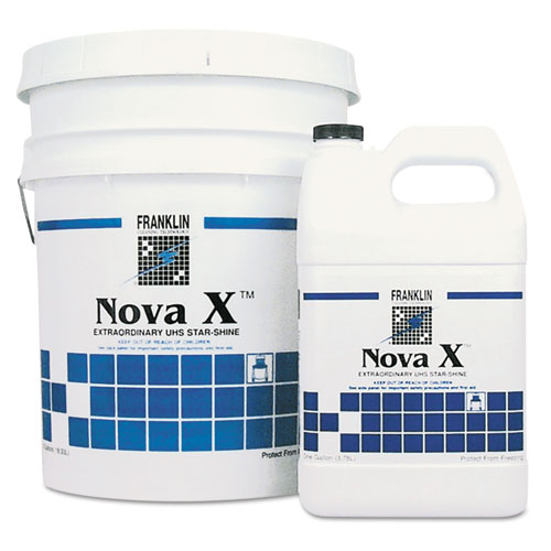 Franklin Cleaning Technology® Nova X Extraordinary UHS Star-Shine Floor Finish, Liquid, 1 gal. Bottle