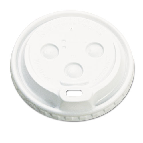 Hot Cup Dome Lids, Fits 10-20oz Cups, White, 100/Sleeve, 10 Sleeves/Carton 1020DOMELID