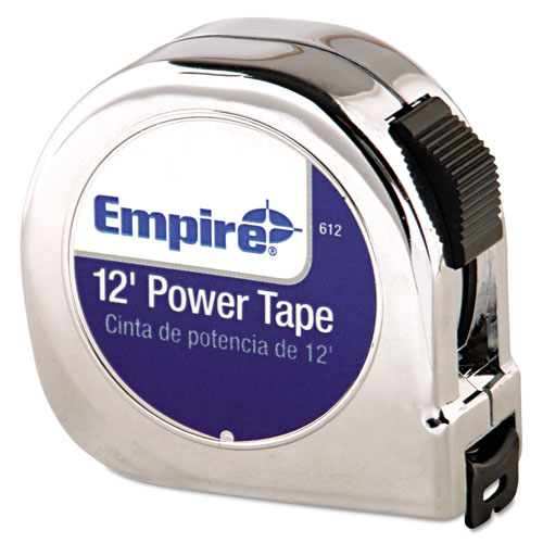 Power Tape Measure, 5/8 x 12ft, Black Case
