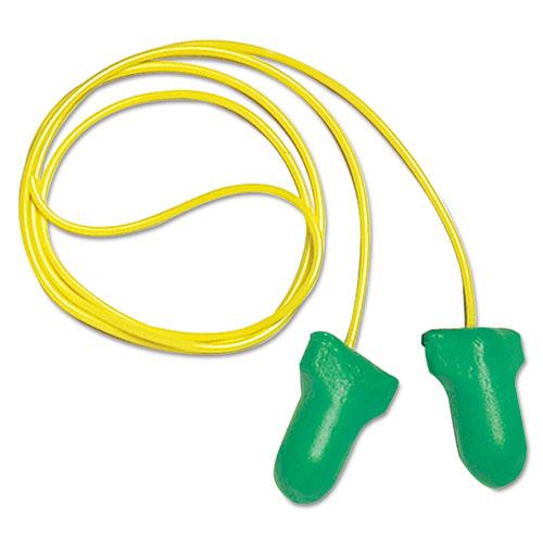 LPF-30 Max Lite Single-Use Earplugs, Corded, 30NRR, Green, 100 Pairs
