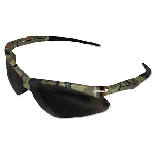 Nemesis Safety Glasses, Camo Frame, Smoke Anti-Fog Lens