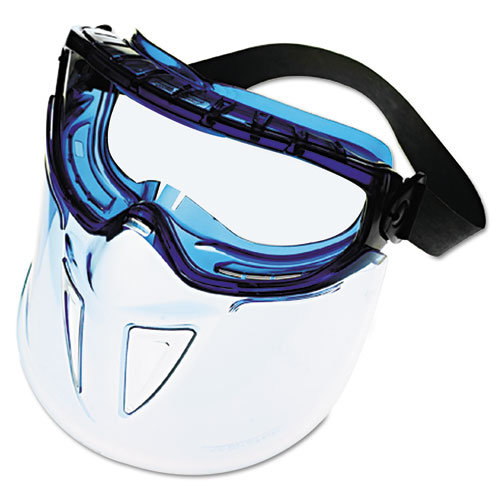 V90 Series Face Shield, Blue Frame, Clear Lens