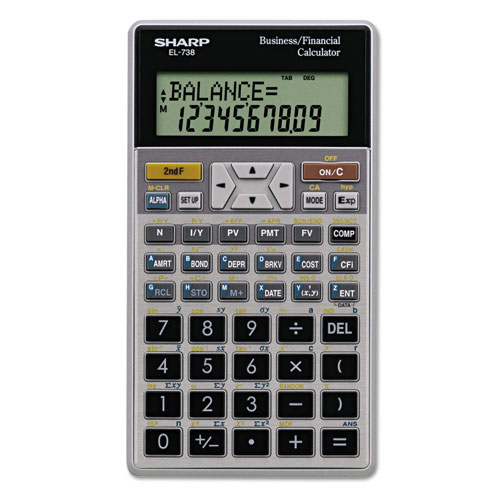 EL-738C Financial Calculator, 10-Digit LCD | by Plexsupply
