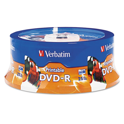 Dvd-r disc, 4.7 gb, 16x, white, 25/pk, sold as 1 package