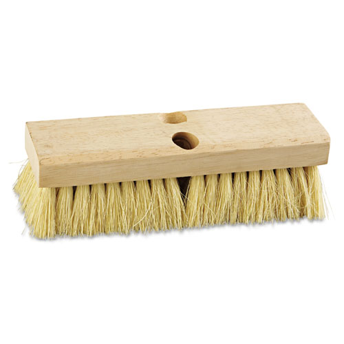 "Deck Brush Head, 10"" Wide, Tampico Bristles 