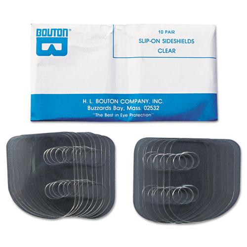 Slip-On Sideshields, Plastic, Clear, 10 Pairs/Box