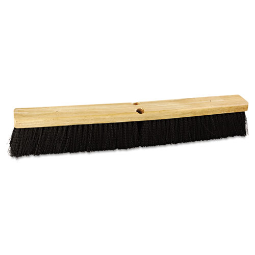 "Floor Brush Head, 24"" Wide, Polypropylene Bristles 