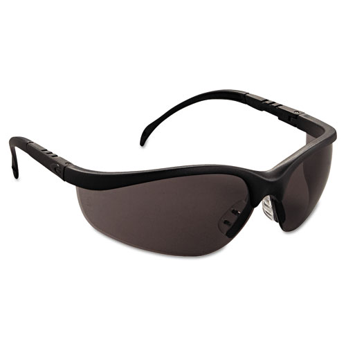 Matte Black Glasses Frame : Klondike Safety Glasses, Matte Black Frame, Gray Lens - Zerbee