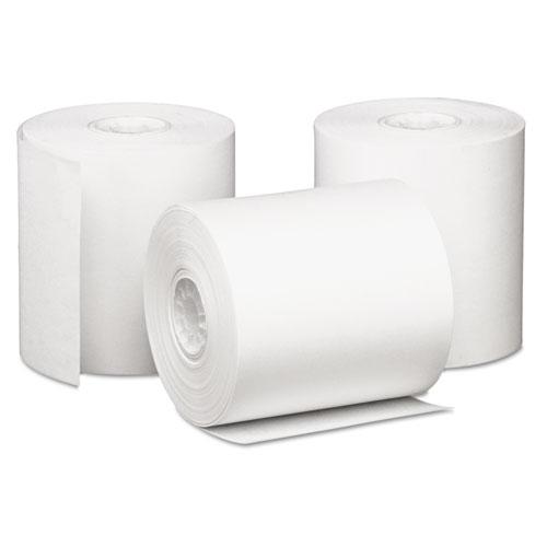 Impact Bond Paper Rolls, 3 x 85 ft, White, 50/Carton
