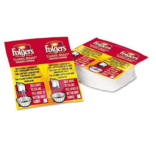 Folgers® Coffee Premeasured Packs, Classic Roast Regular, 1.05oz Vacket Pack, 42/Carton