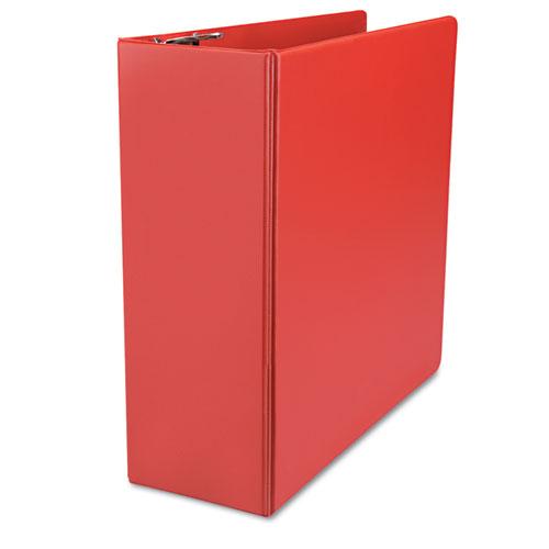 "D-Ring Binder, 4"" Capacity, 8-1/2 X 11, Red"