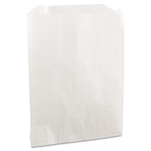 Grease-Resistant Single-Serve Bags, 6 x 7.25, White, 2,000/Carton