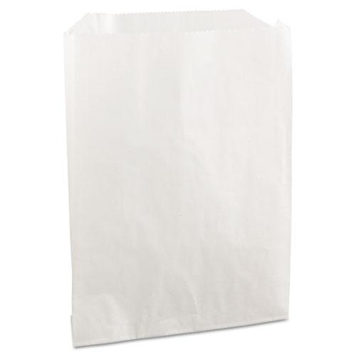 "Grease-Resistant Single-Serve Bags, 6"" x 7.25"", White, 2,000/Carton"