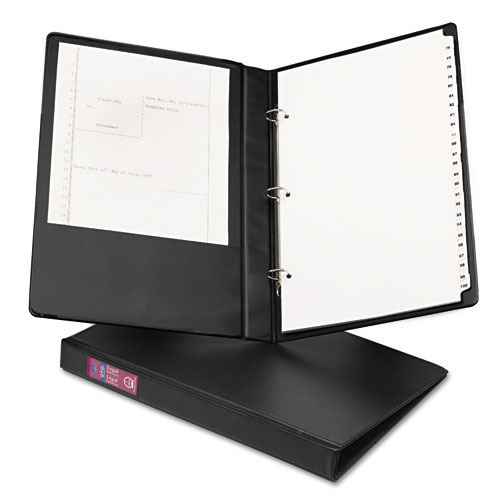 """Legal Durable Non-View Binder with Round Rings, 3 Rings, 1"""" Capacity, 14 x 8.5, Black 