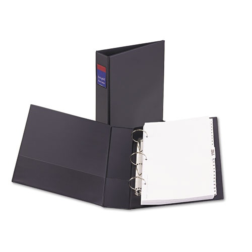 """Legal Durable Non-View Binder with Round Rings, 3 Rings, 2"""" Capacity, 14 x 8.5, Black 