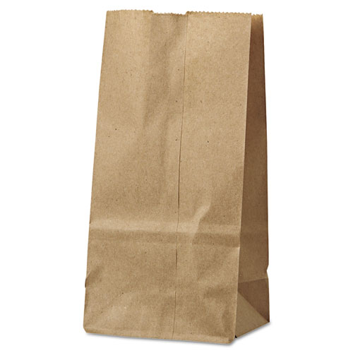 "Grocery Paper Bags, 30 lbs Capacity, #2, 4.31""w x 2.44""d x 7.88""h, Kraft, 500 Bags"